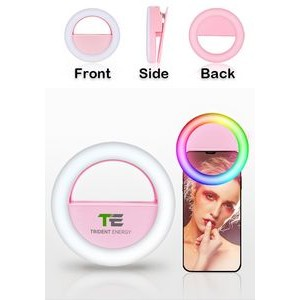 Colorful RGB Adjustable Selfie Clip Ring Light with USB